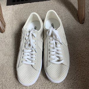 Converse off white side sneakers